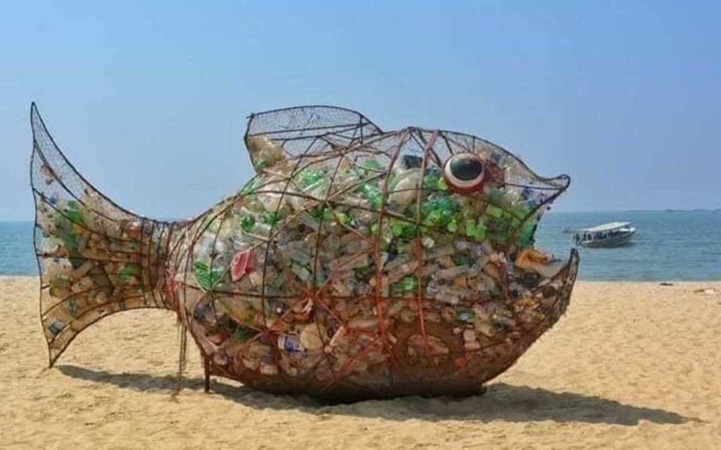 Plastic on beaches
